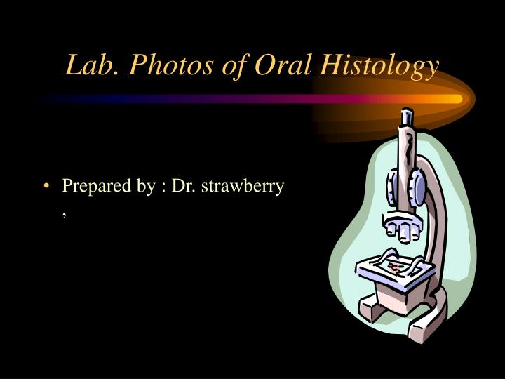 Lab. Photos of Oral Histology