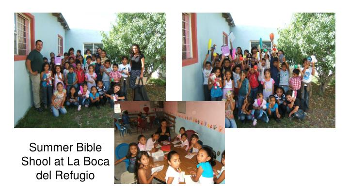 Summer Bible Shool at La Boca del Refugio