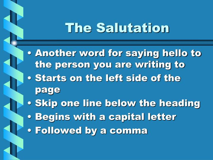 The Salutation