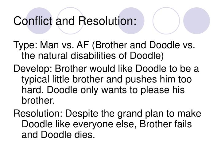 Conflict and Resolution:
