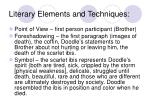 literary elements and techniques