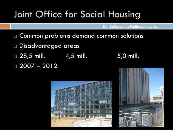 Joint Office for Social Housing