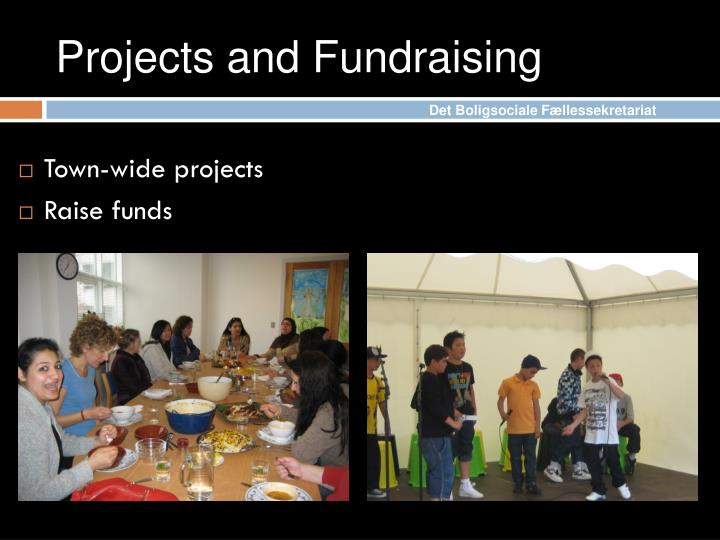 Projects and Fundraising
