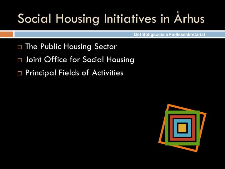 Social housing initiatives in rhus