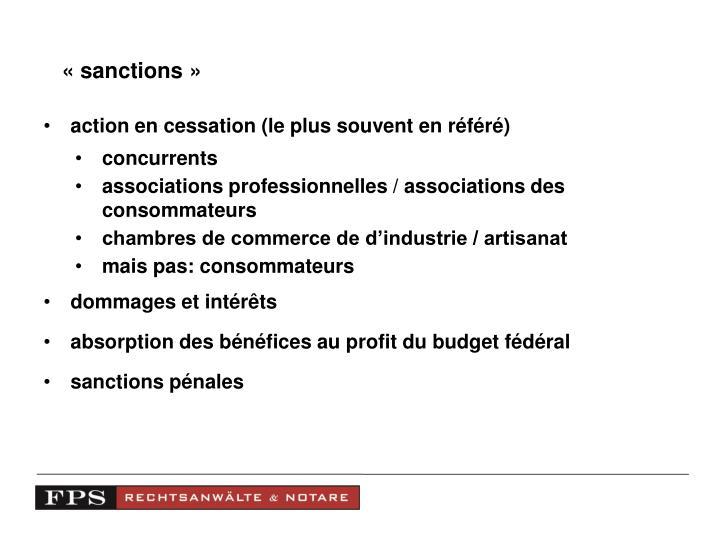 «sanctions»