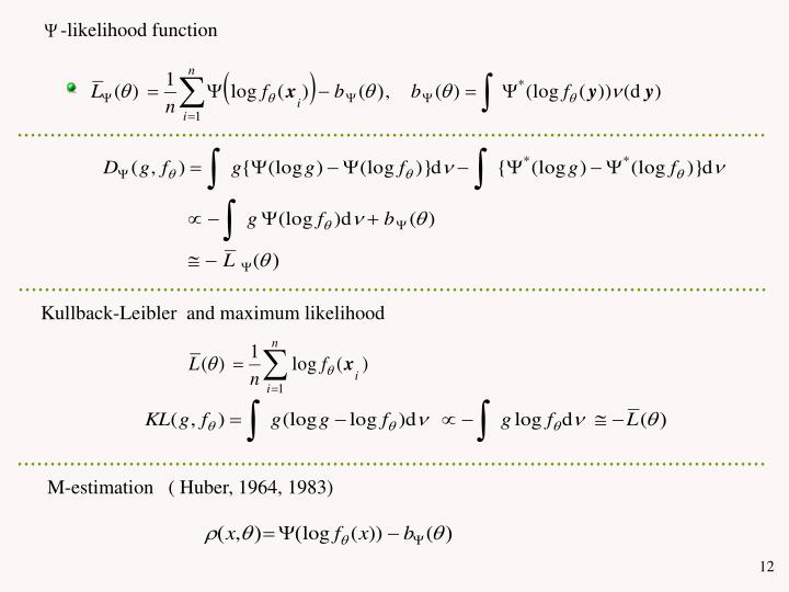 -likelihood function