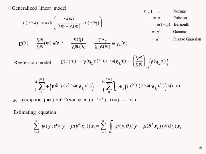 Generalized  linear  model