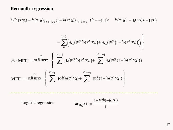 Bernoulli  regression