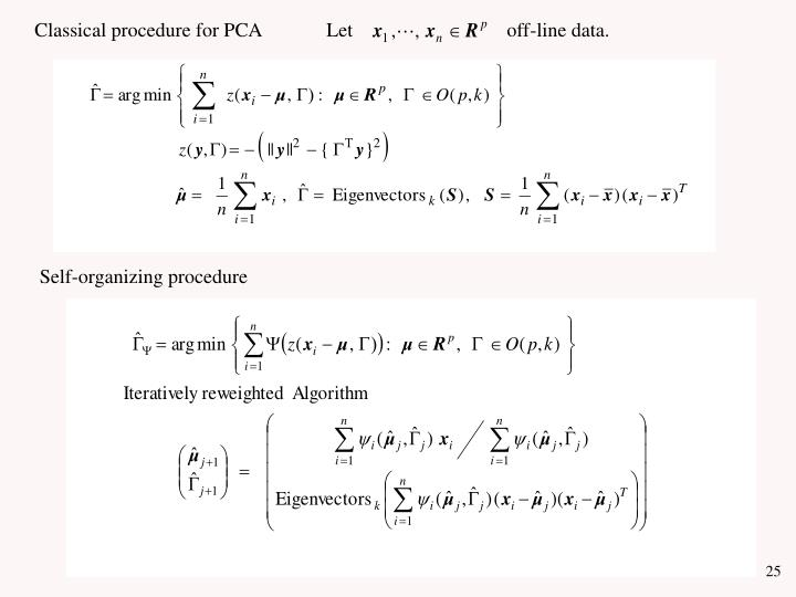 Classical procedure for PCA