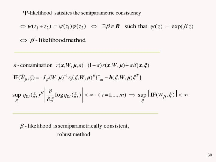 -likelihood  satisfies the semiparametric consistency