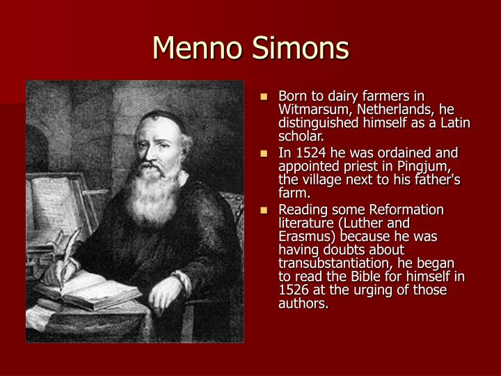 The Fearless Pacifist: Menno Simons (1496–1561)The ...