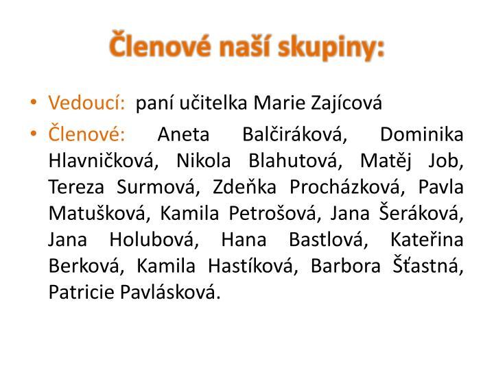 Členové naší skupiny: