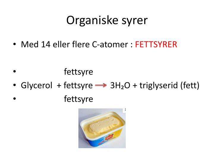 Organiske syrer