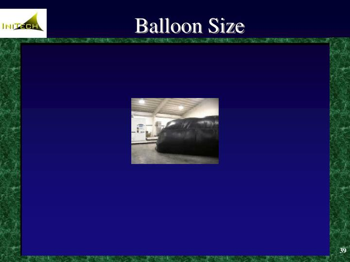 Balloon Size