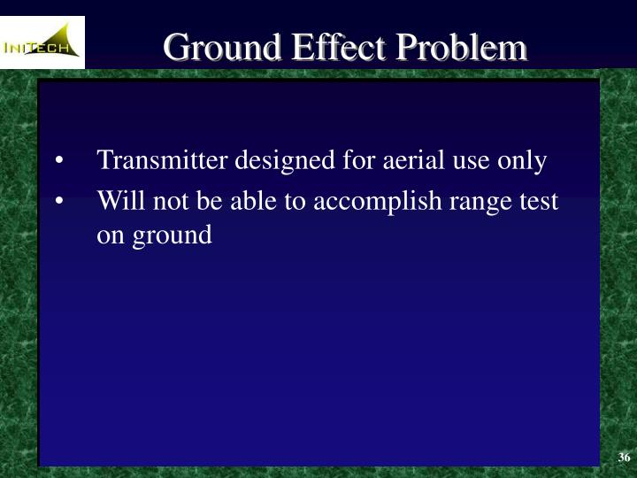 Ground Effect Problem