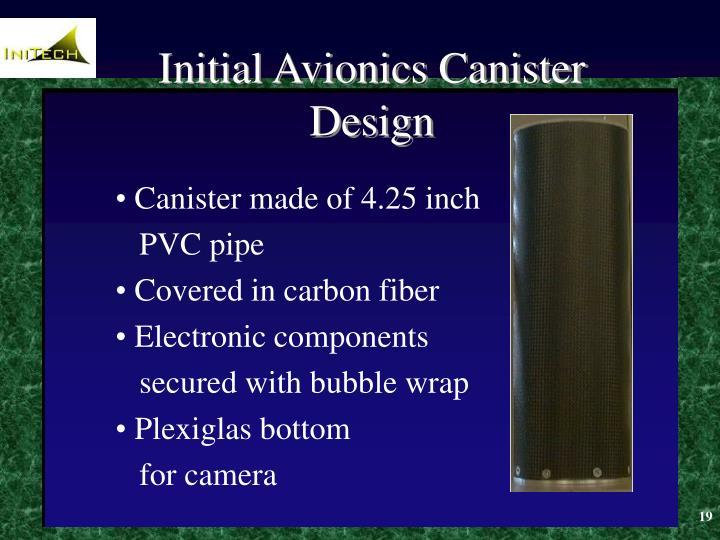 Initial Avionics Canister