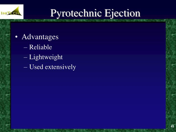 Pyrotechnic Ejection