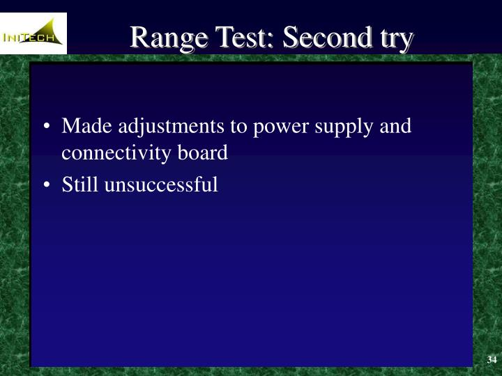 Range Test: Second try