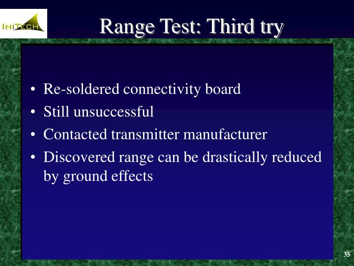 Range Test: Third try