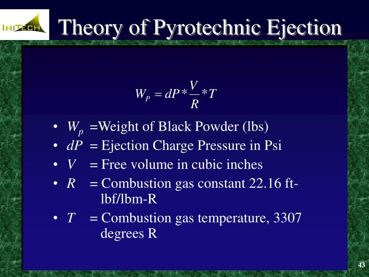 Theory of Pyrotechnic Ejection