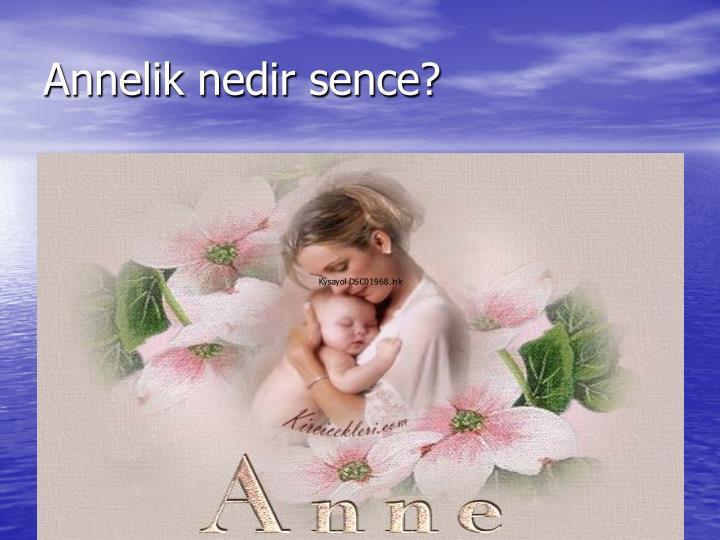 Annelik nedir sence?