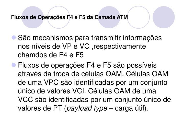 Fluxos de Operações F4 e F5 da Camada ATM