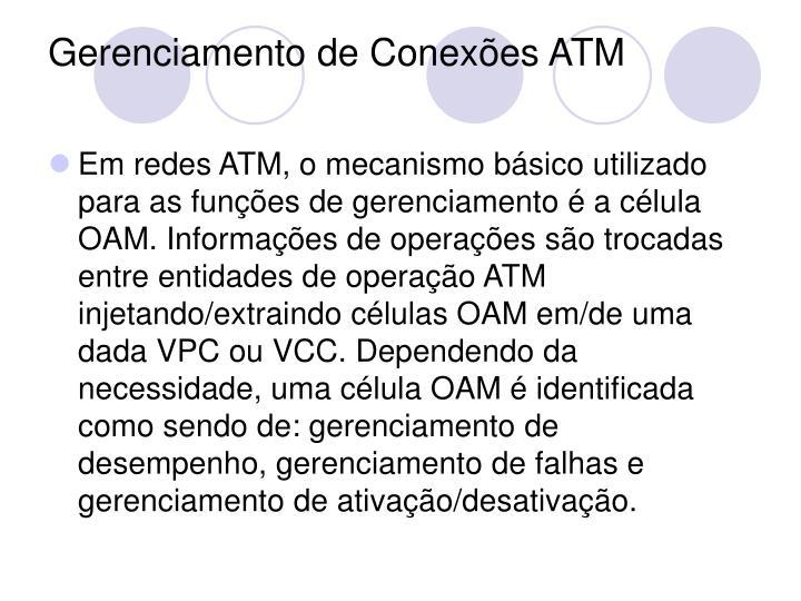 Gerenciamento de Conexões ATM