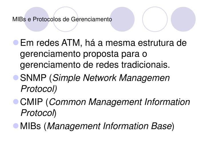 MIBs e Protocolos de Gerenciamento