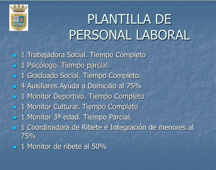 PLANTILLA DE PERSONAL LABORAL