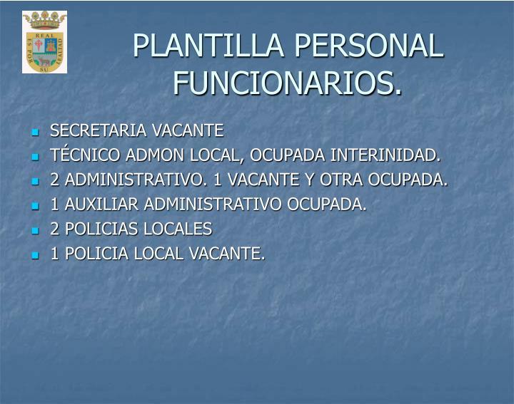 PLANTILLA PERSONAL FUNCIONARIOS.
