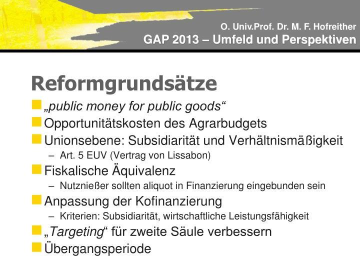 Reformgrundsätze
