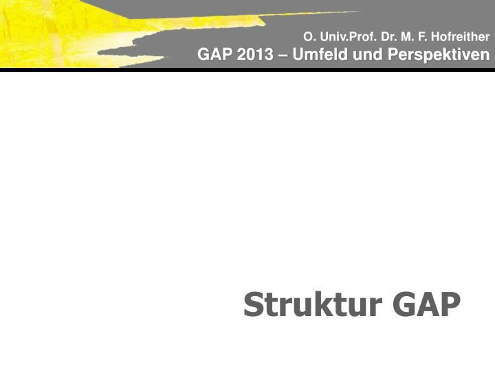 Struktur GAP