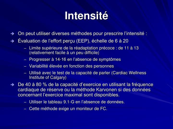 Intensité