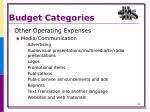 budget categories3