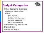 budget categories5