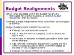 budget realignments