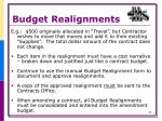budget realignments1
