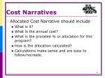cost narratives3