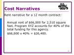 cost narratives5