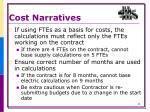cost narratives6