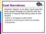 cost narratives7