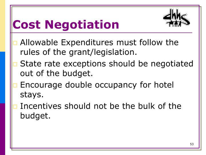 Cost Negotiation