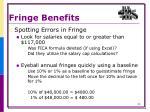 fringe benefits7