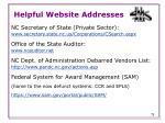 helpful website addresses1