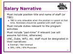 salary narrative