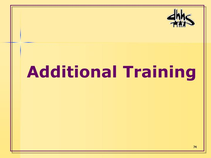 Additional Training