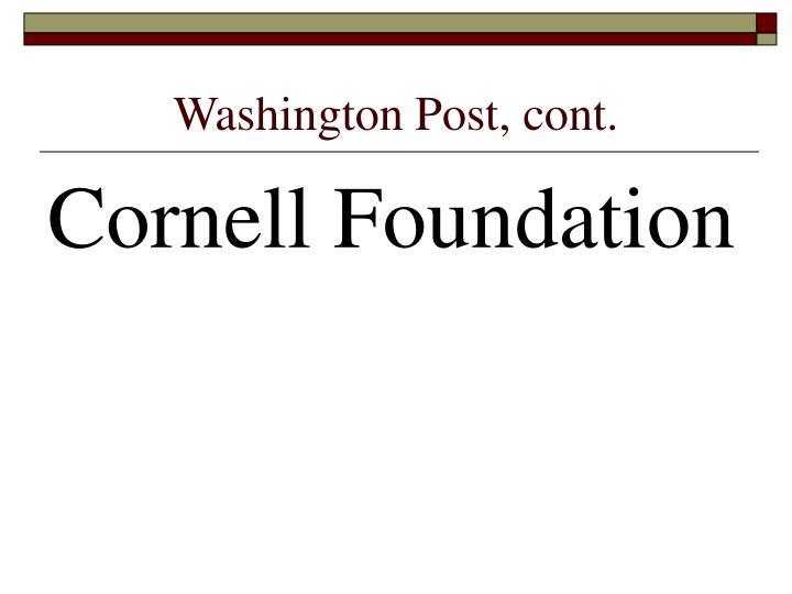 Washington Post, cont.