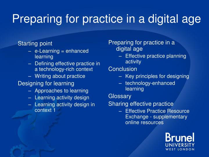 Preparing for practice in a digital age