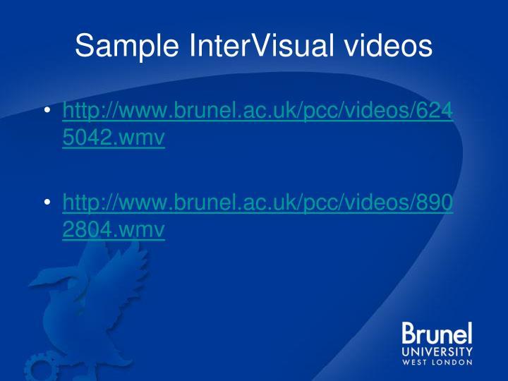 Sample InterVisual videos