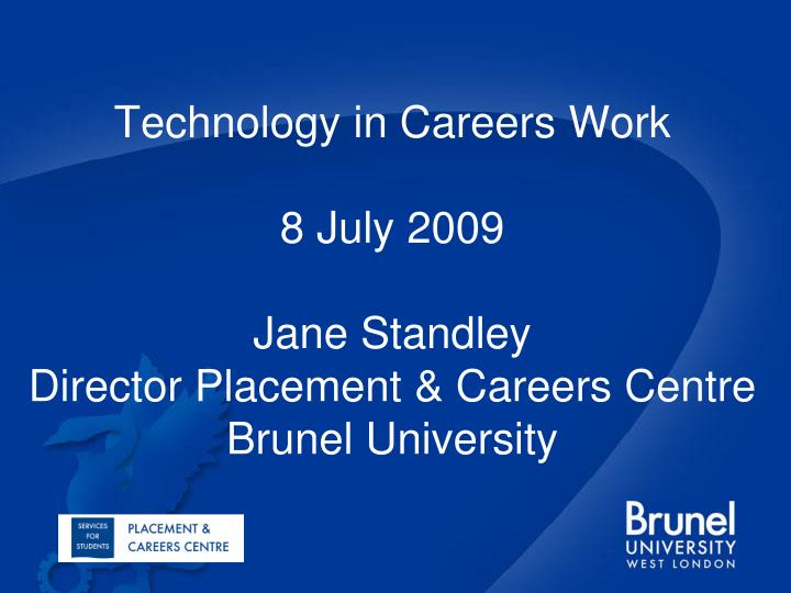 Technology in Careers Work